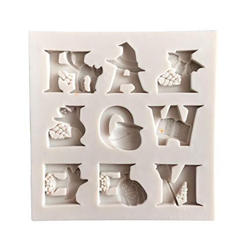 Kuchen Fondant Form Schokolade Eisform Halloween Stil Fondant Kuchen Dekorieren BPA-frei für Home Dekoration - Picture Color ()