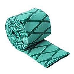 Sharplace 2 Stück 25mm Rutschfeste Angelruten Griff Schrumpfschlauch Angelrute Wickel Bänder Gelb Grün