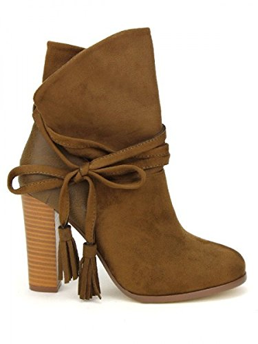 Cendriyon, Bottine Tarmac color simili peau COLLS MODE Chaussures Femme Marron