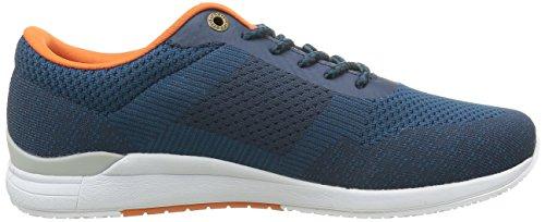 Kickers Knitwear, Baskets Basses Homme Bleu (Bleu Gris)