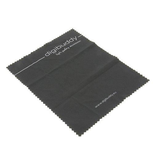 foto-kontor Microfaser Reinigungstuch Putztuch digibuddy schwarz für Universalzubehör Universalzubehör