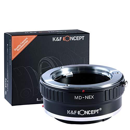 K&F Concept Minolta MD MC Objektivadapter kompatibel mit Sony NEX Alpha E-Mount Adapter | Adapterring Kamera Ring Objektiv MD-NEX MD/MC