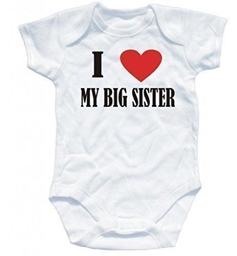 3079d677600 Preiswert Naughtees clothing I Love My Big Sister weiß kurze Ärmel ...