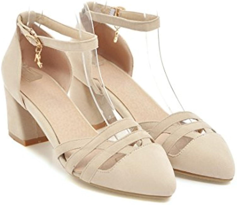 MEI&S Donna Tacco Basso Cinturino alla Caviglia Sandali | Facile da usare  | Uomini/Donne Scarpa