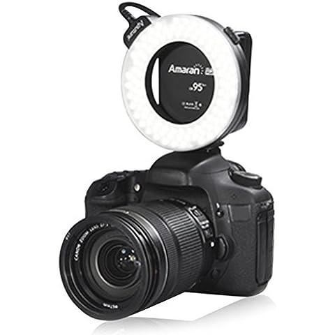 Aputure Amaran AHL-HN100100LED Anillo Luz de Flash CRI 95+ linterna para Nikon D600D7000D5100D3100D5000D3300Nikon D4S Df D5300D610D4D3X D3S D800D300S D7100D90D5200D3200D3000D700