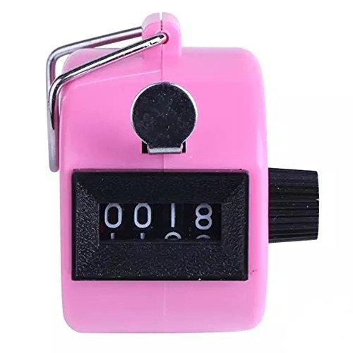FOANA - Contatore Digitale a 4 cifre per Golf, Colore: Cromato Rosa