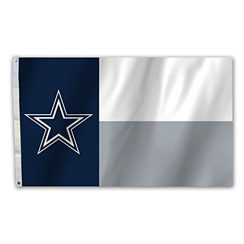 Fremont Die NFL 3 Ft. X 5 Ft. Flagge mit Tüllen, Unisex, NFL Dallas Cowboys 3 Ft. X 5 Ft. Flag with Grommets, Navy, Gray, White, Einheitsgröße