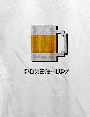 Bierglas Power Up T-Shirt Weiß