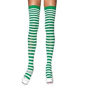 Leg Avenue- Mujer, Color blanco y verde, Talla Única (EUR 36-40) (600522046)
