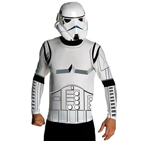 NEU Herren-Kostüm Stormtrooper Shirt & Maske Gr. - Herren Stormtrooper Kostüm