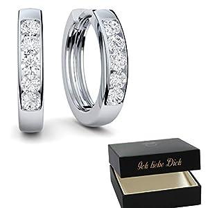 Creolen Silber Damen 925 klein Ohrringe echt Geschenk für Frauen Freundin Schmuck Liebe Sie nickelfrei! Modeschmuck Damenohrringe silberne kein Edelstahl Kreolen Klappcreolen dünne