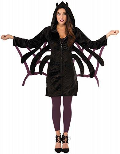 shoperama Damen Halloween Spinnen Kostüm Hoodie Spider Gr. 34-38