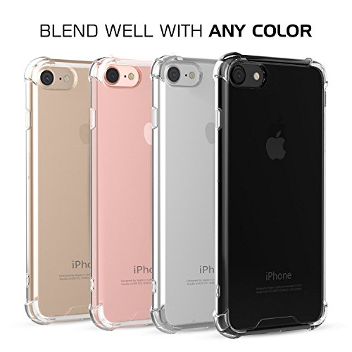 Coque iPhone 7, JIAXIUFEN Crystal Case Ultra Mince Protection TPU Silicone Clair Transparent Housse Etui Coque Pour iPhone 7 - Crystal Clear Crystal Clear