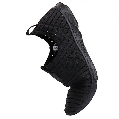 Aleader Damen Wasser-Schuhe Netzstoff Schlupfschuh Black76
