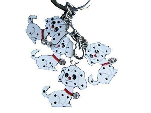 süße 4 Stück Hunde, Welpe, Disney's 101 Dalmatiner Schlüsselring Anhänger Geschenkidee - von fat-catz-copy-catz (101 Welpen)