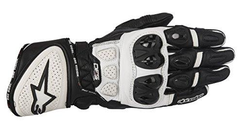 Alpinestars GP Plus R Handschuh schwarz/weiß XL - Motorradhandschuhe (Alpinestars Leder Race)