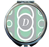 Rikki Knight Tm D Initial Mint Green Circle Designs Design Round Compact Mirror
