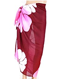 PRESKIN - Couverture Bikini Cover Up Sarong Paréo Wrap Jupe Echarpe Mouchoir pour la plage | couleurs vives | Grand confort