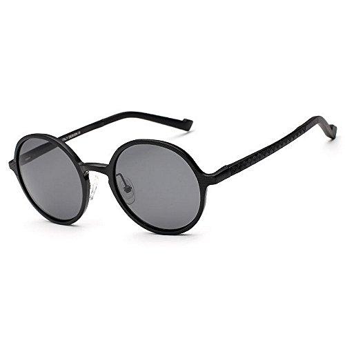Ppy778 Retro Steampunk Style Unisex inspiriert Runde Metallkreis polarisierte Sonnenbrille für Männer und Frauen (Color : Gold)