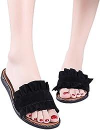 WINWINTOM Hausschuhe Damen Sommer, Flip Flops Damen, Frauen Fashion Solid Color Indoor Outdoor Flache Ferse Sandalen Slipper Strandschuhe 35