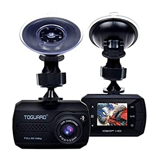 TOGUARD Mini Dash Cam Full HD 1080P Car Dash Cams DVR Dashboard Camera Built In G-Sensor Motion Detection Loop Recorder(SD Card is NOT Included)
