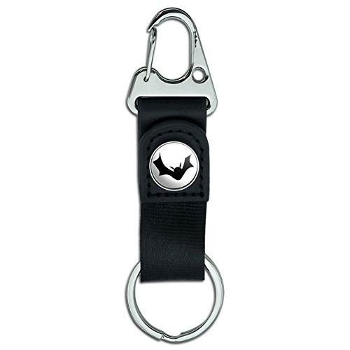 Gürtel Clip auf Karabiner Leder Schlüsselanhänger Ring Urlaub Weihnachten Halloween Bat - (Bat Gürtel)