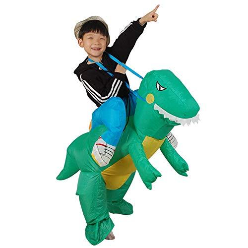MIMI KING Aufblasbare Reiter Dinosaurier T-Rex Kostüm, Halloween-Kostüme Lustige Cosplay Verkleiden ()