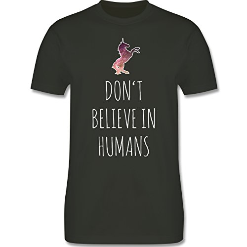 Nerds & Geeks - Don't believe in humans - Herren Premium T-Shirt Army Grün