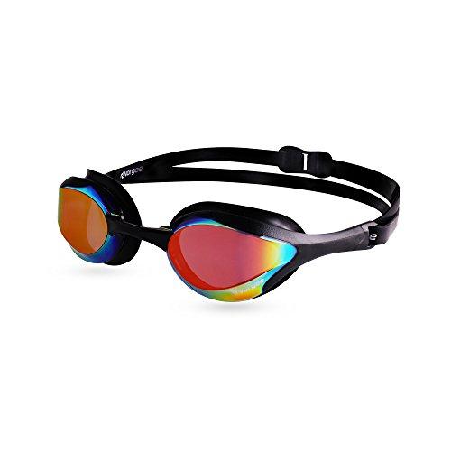 Vorgee Stealth MkII Rainbow Mirrored Lens Schwimmbrille, Gloss Black, Einheitsgröße