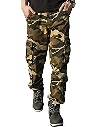 df1917711674 TAIPOVE Cargohose Herren Arbeitshose Stretch Cargo Pants Loose Casual mit  Mehrere Tasche Camouflage…