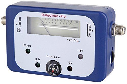 Venton Satellitenfinder digitales HD-TV Satelliten Messgerät Sat-Finder für Sat Anlagen Camping Antennen Satellit Schüssel als Signal Tester Einstellgerät zum ausrichten LNB Receiver (Ku-band Dish)