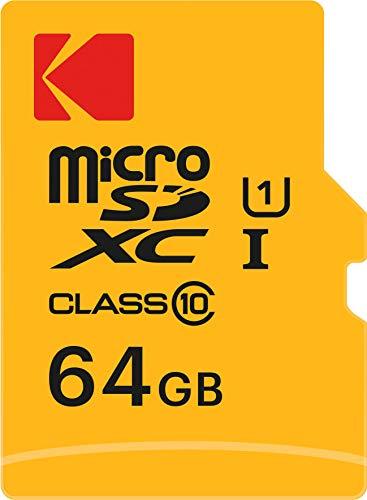 Kodak Premium 64GB microSDXC Speicherkarte - Highspeed, SD-Adapter UHS-I, U1, bis 85 MB/Sek