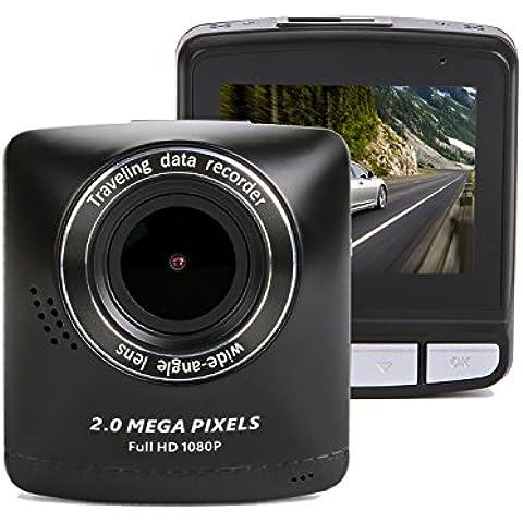 SmarTure T200A HD1080P del tablero de instrumentos de la cámara 2,4 pulgadas TFT LCD de bienes 150 grados de ángulo ancho con WDR, G-sensor, modo de protección de aparcamiento, detección de movimiento, visión nocturna del coche DVR