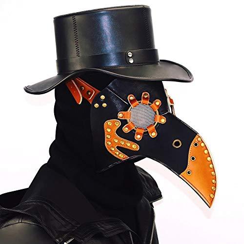 ogel-Maske, Gotische Maske Der Schutzbrille, Steampunk Maskerade Maske, Halloween Requisiten Handgemachtes Leder Herren/Herren Tasche (Color : 6) ()