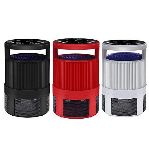 Neue Ära 2 Licht (GNDJA Zapper 5W Haushalt LED Moskito-Mörder-Lampe Fotokatalysator USB-Falle Indoor Silent Imitation Atemschutzmittel Smart Home Supplies, schwarz)