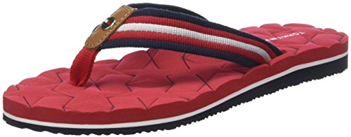 Tommy Hilfiger Comfort Low Beach Sandal, Chanclas para Mujer, Rojo (Tango Red...