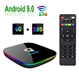 Sawpy Q Plus Andriod 9.0 TV Box 4GB RAM DDR3 32GB ROM CPU H6 Quad-core cortex-A53 Frequency up to 2Ghz 4K&6K 3D USB 3.0 WiFi 2.4Ghz Smart TV Box