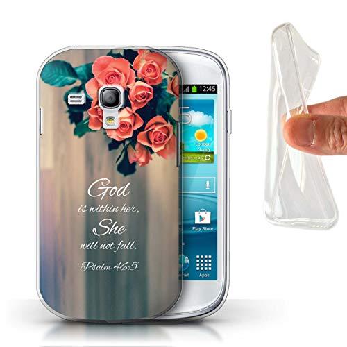 Stuff4® Gel TPU Hülle/Case für Samsung Galaxy S3 Mini/God Within Her/Psalm Muster/Christliche Bibel Vers Kollektion - Case Samsung Gel S3