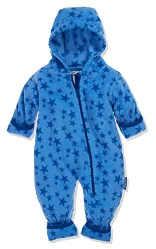 Playshoes Unisex Baby Fleece-Overall Sterne Schneeanzug, Blau (Blau 7), 74