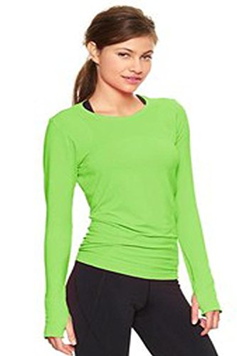 Elegance Damen-Langarm-T-Shirt mit Rundhalsausschnitt(ref:2214) Kalkgrün(Limegreen)