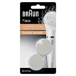 Braun Face Kosmetik-Schwämmchen 80b, für Braun Gesichtsreinigungsgeräte, 2 Stück