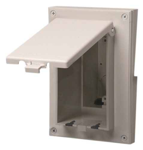 Arlington DBVR151W-1 Vertical Electrical Box with Weatherproof Cover for Rigid Siding, White, 5/8-Inch Lap by Arlington Industries -