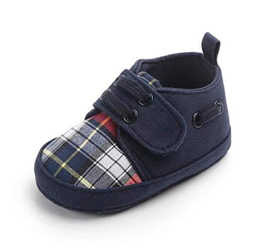 KINGDUO 0-1 Jahre Altes Baby Lässige Schuhe Plaid Weiche Untere Schuhe Baby Kleinkinder Schuhe-Navy Blau 12 - Navy Plaid Kinder-schuhe