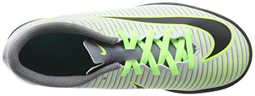 Nike Jr Mercurialx Vortex Iii Tf, Chaussures de Football Garçon Argent (Pure Platinum/Black-Ghost Green)
