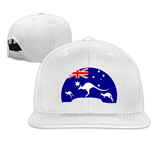 Osmykqe Loving Kangaroo Australian Flag Low Profile Baseball Caps Einstellbare Mütze - Sonnenschutz Kangaroo Classic Cap