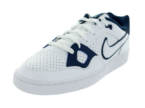 Nike - Nike Fils De Force Chaussures Hommes En Cuir Blanc Bleu Blanc