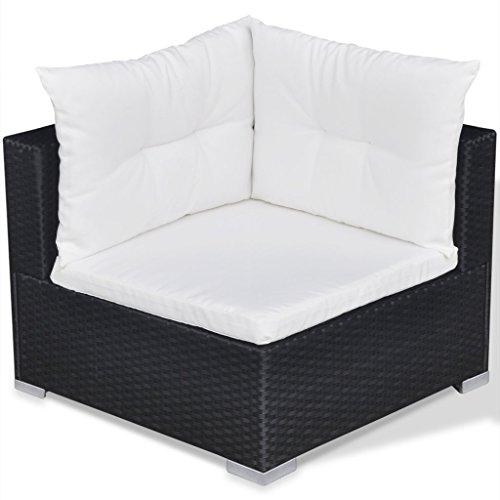 Festnight 32-tlg. Gartensofa Set mit 1 Teetisch Gartenlounge Garten Lounge-Set aus Polyrattan Loungegruppe Sitzgruppe für Terrasse Garten – Schwarz - 7