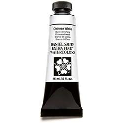 Daniel Smith - Tubo de Pintura para Acuarela Extra Fino, 15 ml, Color Blanco Chino