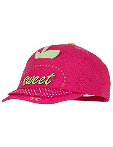 maximo Mädchen Kappe Cap 'Sweet', Gr. 45 cm (Herstellergröße: 45/47), Mehrfarbig (dunkelpink/pink/weiße Punkte 5725)
