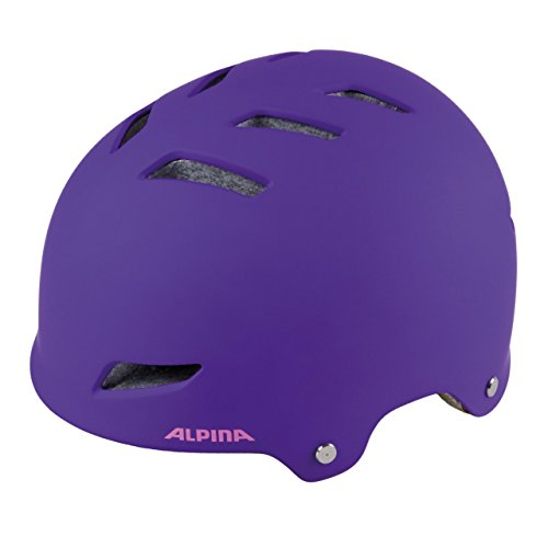 Alpina Kinder Park Junior Fahrradhelm, Purple, 51-55 cm